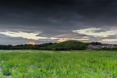 Nelson Hill au crépuscule Photos libres de droits