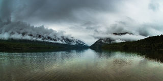 Nelson lakes. Panoramic scenery at nelson lakes, new zealand Royalty Free Stock Image