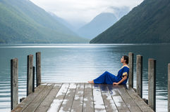 Nelson Lakes National Park New Selandia imagen de archivo