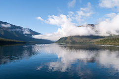 Nelson Lakes National Park New Zealand. A tranquil scene of Lake Rotoiti in the Nelson National Park South New Zealand royalty free stock image
