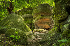 Nelson Ledges State Park Ohio Stock Image