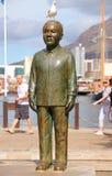 Nelson Mandela雕象 免版税库存图片