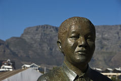 Nelson Mandela. A close up on the statue of Nelson Mandela, Cape Town, South Africa Stock Images