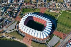 Nelson Mandela Bay Stadium Aerial Afrique du Sud Images libres de droits