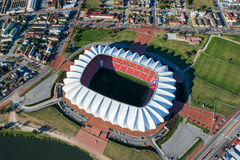 Nelson Mandela Bay Stadium Aerial South Africa. Aerial shot of Nelson Mandela Stadium in Port Elizabeth South Africa Royalty Free Stock Images