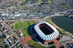 Nelson Mandela Bay Stadium Aerial Suráfrica Fotos de archivo libres de regalías