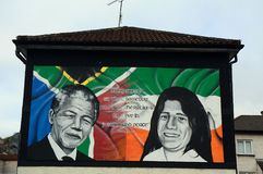 Nelson Mandela and Bobby Sands, Derry, Northern Ireland stock photos