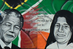 Nelson Mandela and Bobby Sands, Derry, Northern Ireland stock image
