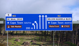 Nelson Mandela Boulevard,Cape Town Royalty Free Stock Images