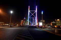 Nelson Mandela Bridge. Seen in an evening sunset Royalty Free Stock Image