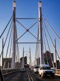 Nelson Mandela Bridge in Braamfontein Johannesburg Lizenzfreie Stockfotos