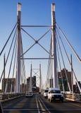 Nelson Mandela Bridge in Braamfontein Johannesburg Lizenzfreies Stockfoto