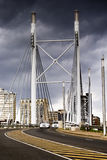 Nelson Mandela Bridge facing into Braamfontein Stock Photo