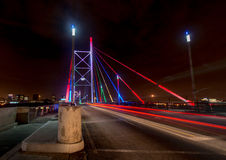 Nelson Mandela Bridge at Night stock photo