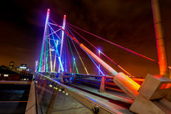 Nelson Mandela Bridge at Night.  Royalty Free Stock Photo