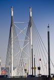 Nelson Mandela Bridge - Suspension Bridge. The Nelson Mandela Bridge, situated in downtown, CBD, Johannesburg, South Africa Royalty Free Stock Photos