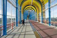 Nelson Mandela bridge trainstation Zoetermeer Royalty Free Stock Images