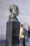 Nelson Mandela bust beside Royal Festival Hall at Southbank Centre, London, England, UK Stock Images