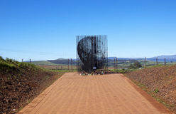Nelson Mandela Capture Site In Howick, Kwazulu-natal. Howick, KwaZulu-Natal, South Africa - 30 December 2013: Metal sculpture of Nelson Mandela at the site where Royalty Free Stock Image
