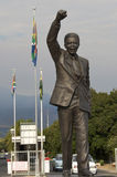 Nelson Mandela celebrating freedom. Statue of Nelson Mandela at the Groot Drakenstein prison near the town of Franschhoek, Western Cape, South Africa Stock Photos