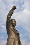 Nelson Mandela che celebra libertà Immagine Stock
