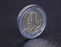Nelson Mandela coin. A coin for Nelson Mandela's 90th birthday Royalty Free Stock Photography