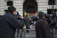 Nelson Mandela commemoration in London Stock Photos