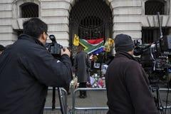 Nelson Mandela commemoration in London Stock Photos