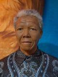 Nelson Mandela en el museo de señora Tussauds fotos de archivo