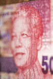 Nelson Mandela on the fifty Rand from RPA Royalty Free Stock Photos