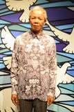 Nelson Mandela. Hall of celebrities expo at Madame Tussauds museum in London Royalty Free Stock Images