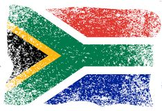 Nelson Mandela International Day. 18 July. Flag of the Republic of South Africa. Grunge background. Nelson Mandela International Day. 18 July. The concept of a Stock Photography