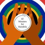 Nelson Mandela International Day. 18 July. 67 Minutes for Mandela. Circle with flag of the Republic of South Africa colors. Nelson Mandela International Day. 18 Stock Photos