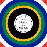 Nelson Mandela International Day. 18 July. 67 Minutes for Mandela. Circles with flag of the Republic of South Africa colors. Nelson Mandela International Day. 18 stock illustration