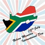 Nelson Mandela International Day. 18th july, vector Royalty Free Stock Images