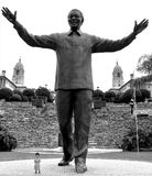 Nelson Mandela Monument. In Pretoria with small child at foot Stock Photos