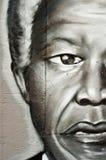 Nelson Mandela. Mulhouse - France - 14 October 2014 - Urban Art - street in Mulhouse - nelson Mandela Stock Photo
