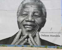 Nelson Mandela mural in Williamsburg section in Brooklyn Stock Photography