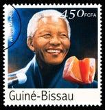 Nelson Mandela Postage Stamp Fotografie Stock Libere da Diritti