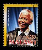 Nelson Mandela Postage Stamp fotografía de archivo
