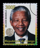 Nelson Mandela Postage Stamp Stock Photo