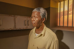Nelson Mandela. In prison cell wax figure at Madame Tussauds Wien Austria Royalty Free Stock Photos