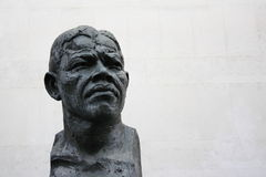 Nelson Mandela Sculpture Stock Photography