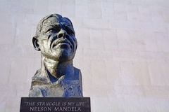 Nelson Mandela sculpture at the Royal Festival Hall in London UK Royalty Free Stock Images