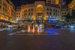 Nelson Mandela Square. Sandton Johannesburg 29 March 2016 The Nelson Mandela Square at night Royalty Free Stock Photo