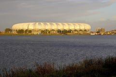 Nelson mandela stadium. Nelson mandela multipurpose stadium in the late afteroon sun Royalty Free Stock Photography