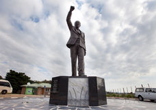 Nelson Mandela Statue. Outside Victor-Verster Prison Stock Photo