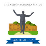 The Nelson Mandela Statue in Johannesburg in South Royalty Free Stock Photo