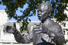 Nelson Mandela Statue in London Royalty Free Stock Image