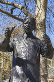 Nelson Mandela Statue in Parliament Square, London. A statue of former South African President Nelson Mandela, situated on Parliament Square in London Royalty Free Stock Photos